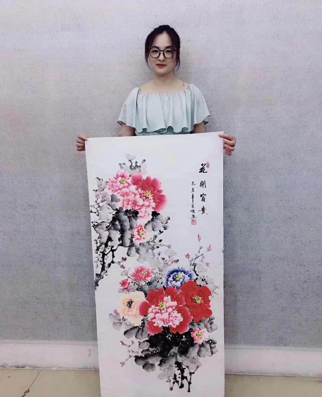 作者:曾娟 ,中国国画家协会会员《花开富贵》